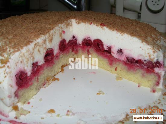 Торт наслаждение с вишней