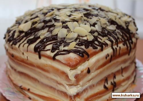 рецепт торта со сметанным кремом и фруктами