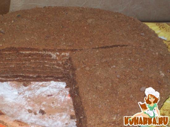торт медовый с какао рецепт с фото